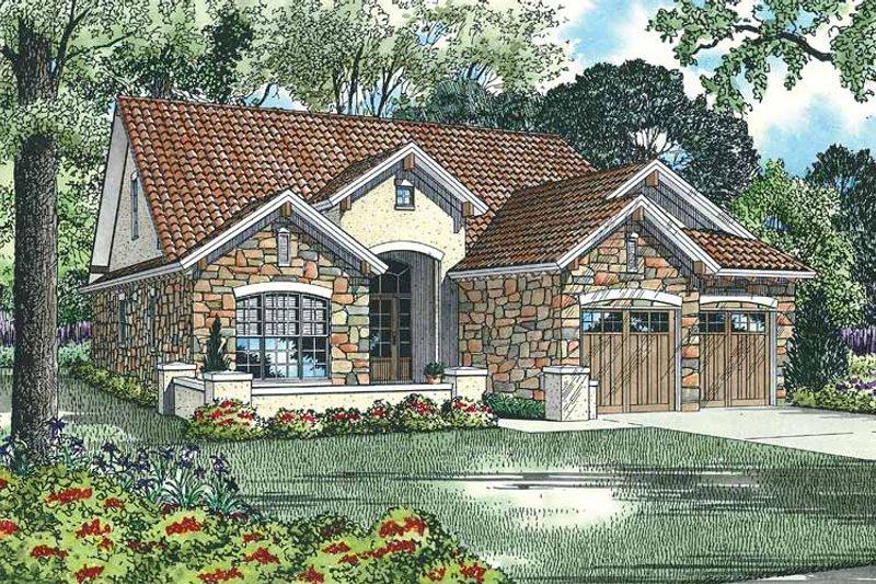 Dream House Plan - Mediterranean Exterior - Front Elevation Plan #17-2920