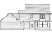 Home Plan - Traditional Exterior - Rear Elevation Plan #46-846