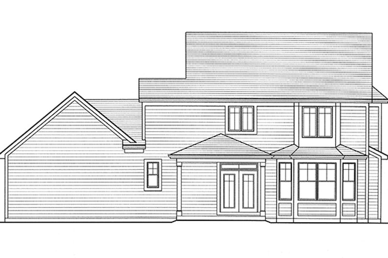 Traditional Exterior - Rear Elevation Plan #46-846 - Houseplans.com