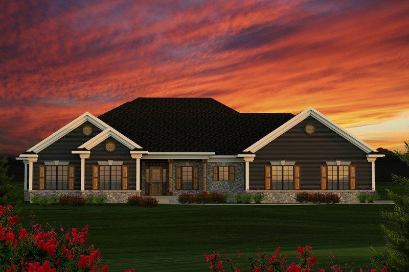 Ranch Exterior - Front Elevation Plan #70-1191 - Houseplans.com
