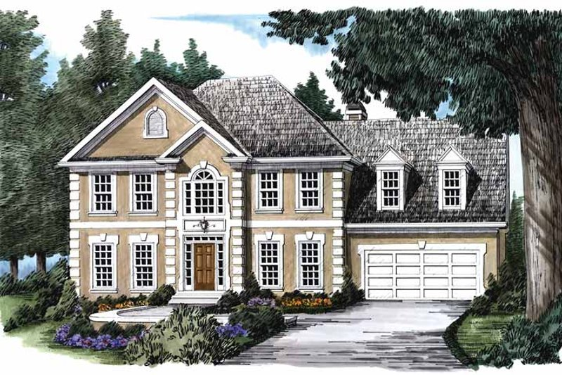 Colonial Exterior - Front Elevation Plan #927-143