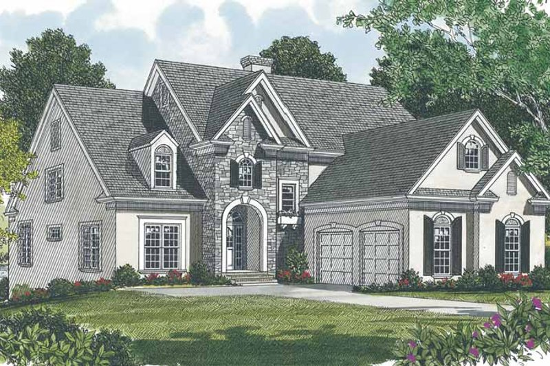 Dream House Plan - Traditional Exterior - Front Elevation Plan #453-529