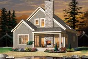 European Style House Plan - 2 Beds 2 Baths 1742 Sq/Ft Plan #23-2494 Exterior - Front Elevation