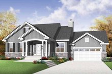 Traditional Exterior - Front Elevation Plan #23-2530