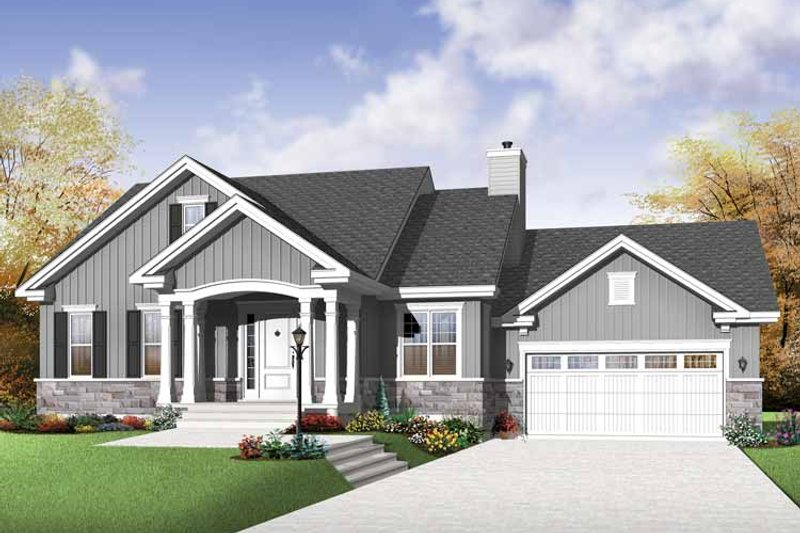 Architectural House Design - Traditional Exterior - Front Elevation Plan #23-2530