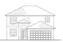 Home Plan - Colonial Exterior - Front Elevation Plan #1058-23