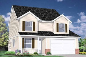 Country Exterior - Front Elevation Plan #509-204