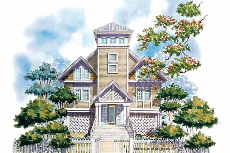 Country Style House Plan - 2 Beds 2.5 Baths 1706 Sq/Ft Plan #930-63 ...