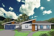 Modern Style House Plan - 2 Beds 1 Baths 1232 Sq/Ft Plan #518-8 Exterior - Front Elevation