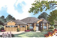 Architectural House Design - Mediterranean Exterior - Front Elevation Plan #1015-2
