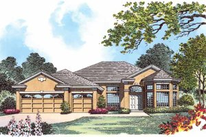 Mediterranean Exterior - Front Elevation Plan #1015-2