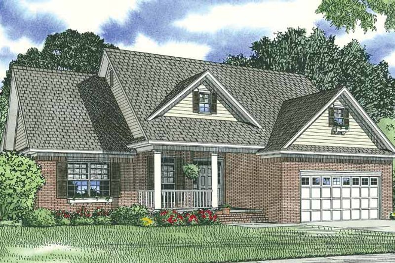 Traditional Exterior - Front Elevation Plan #17-2693 - Houseplans.com