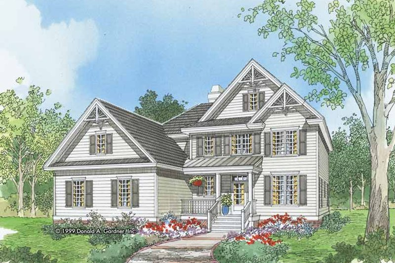 Traditional Exterior - Front Elevation Plan #929-561 - Houseplans.com