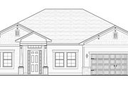 Colonial Style House Plan - 4 Beds 2 Baths 2238 Sq/Ft Plan #1058-122