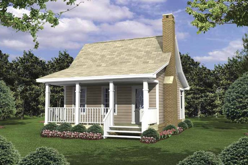 Colonial Exterior - Front Elevation Plan #21-418