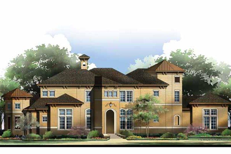 Architectural House Design - Mediterranean Exterior - Front Elevation Plan #952-210