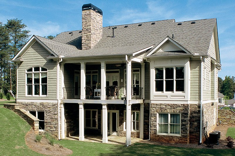 Craftsman Exterior - Rear Elevation Plan #927-917 - Houseplans.com