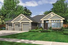 Dream House Plan - Craftsman Exterior - Front Elevation Plan #132-537