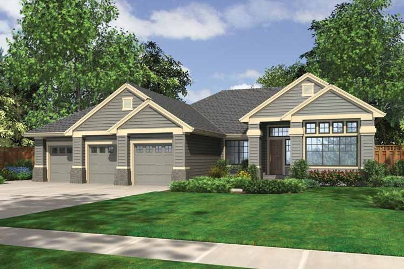 Craftsman Exterior - Front Elevation Plan #132-537 - Houseplans.com