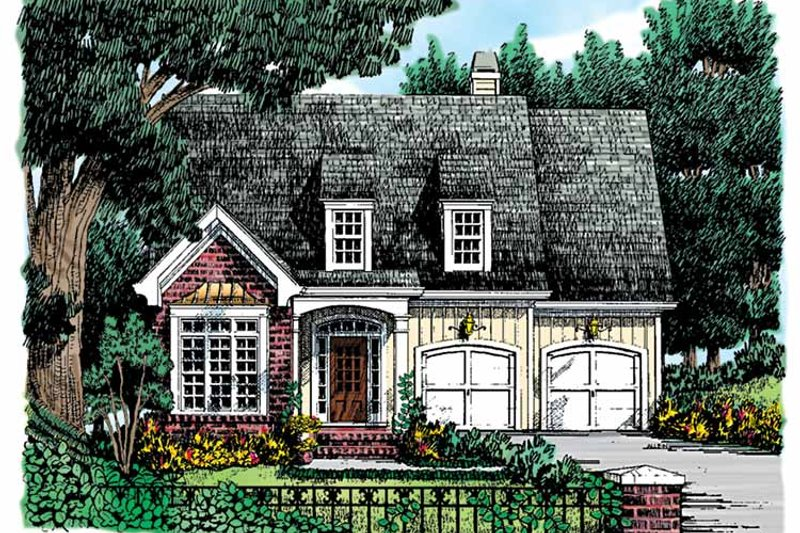Country Exterior - Front Elevation Plan #927-747