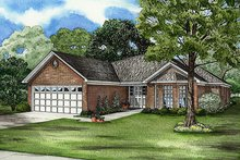 House Plan Design - Traditional Exterior - Front Elevation Plan #17-2091