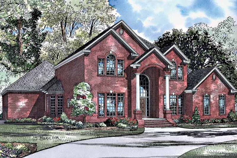 Architectural House Design - Traditional Exterior - Front Elevation Plan #17-3024