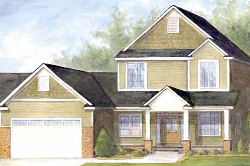 European Exterior - Front Elevation Plan #320-994 - Houseplans.com