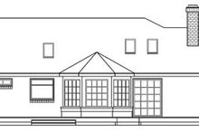Home Plan - Traditional Exterior - Rear Elevation Plan #124-177