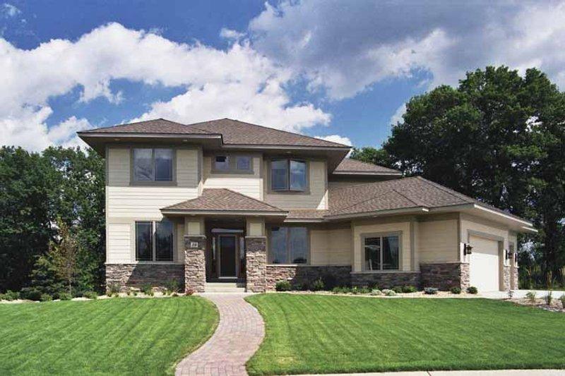 Dream House Plan - Prairie Exterior - Front Elevation Plan #51-651