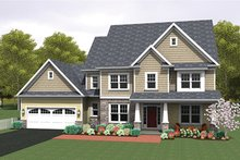 House Design - Colonial Exterior - Front Elevation Plan #1010-159