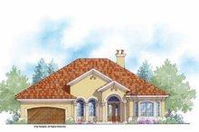 House Plan Design - Mediterranean Exterior - Front Elevation Plan #938-51