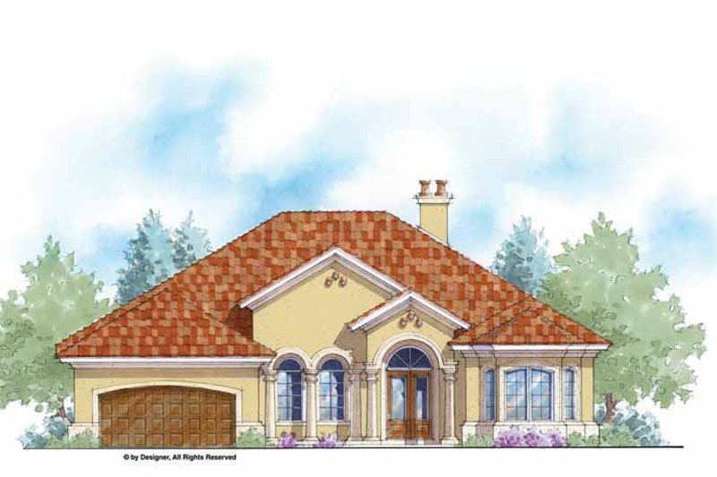 Mediterranean Exterior - Front Elevation Plan #938-51