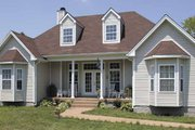Country Style House Plan - 3 Beds 2 Baths 1380 Sq/Ft Plan #314-210 Exterior - Front Elevation