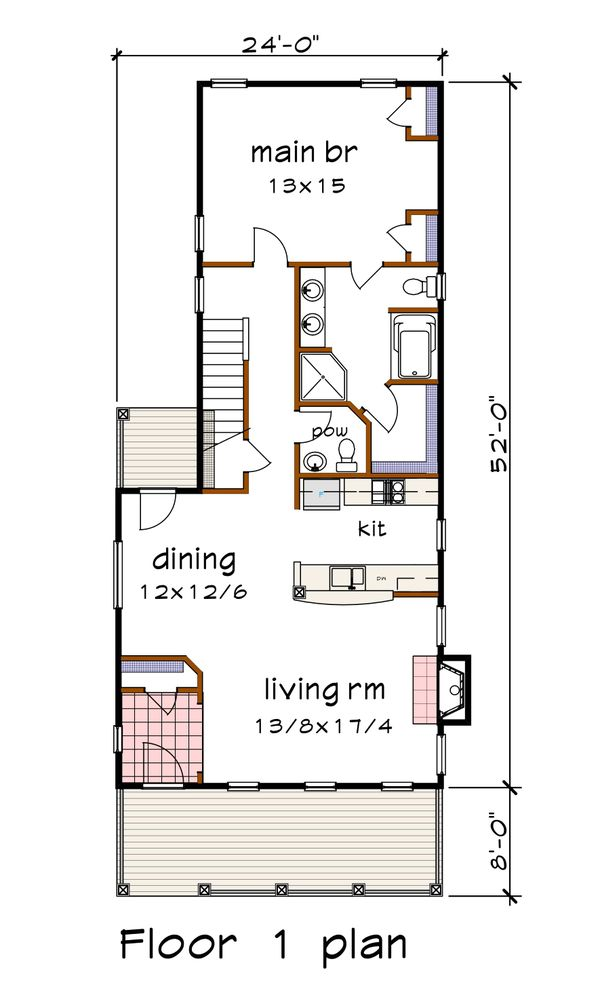Craftsman Floor Plan - Main Floor Plan #79-303