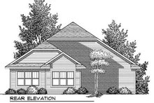 Dream House Plan - Bungalow Exterior - Rear Elevation Plan #70-905