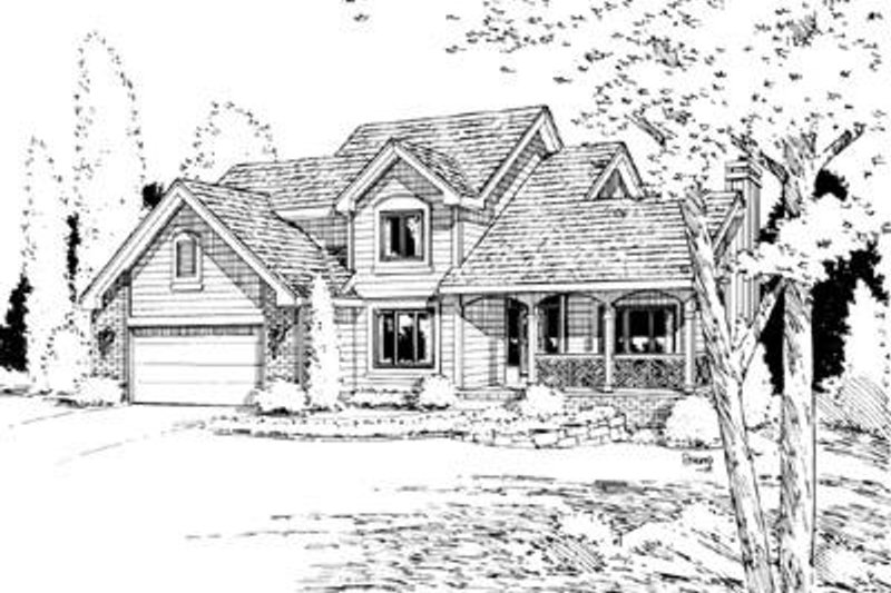 Traditional Exterior - Front Elevation Plan #20-537 - Houseplans.com