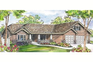 Craftsman Exterior - Front Elevation Plan #124-460