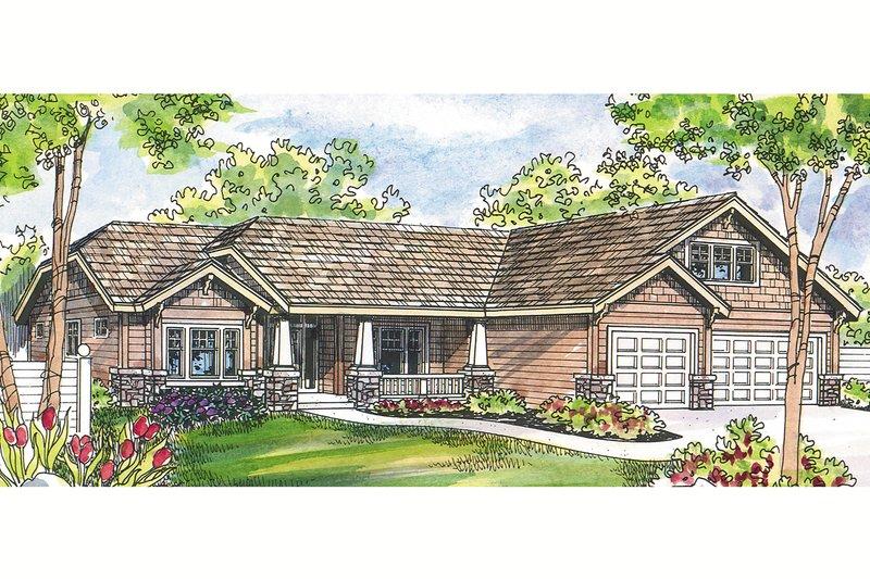 Craftsman Exterior - Front Elevation Plan #124-460