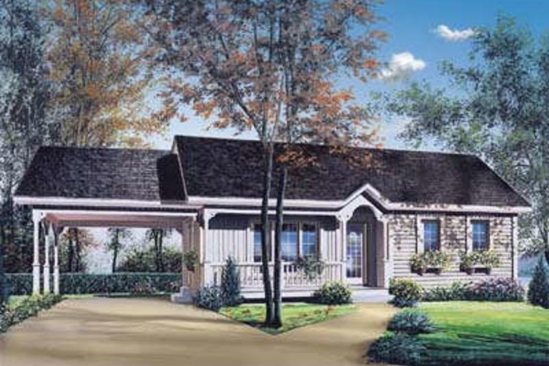 Cottage Exterior - Front Elevation Plan #23-107