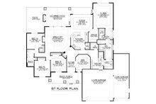 Craftsman Floor Plan - Main Floor Plan Plan #1064-12
