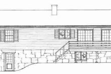 House Blueprint - Traditional Exterior - Rear Elevation Plan #72-295