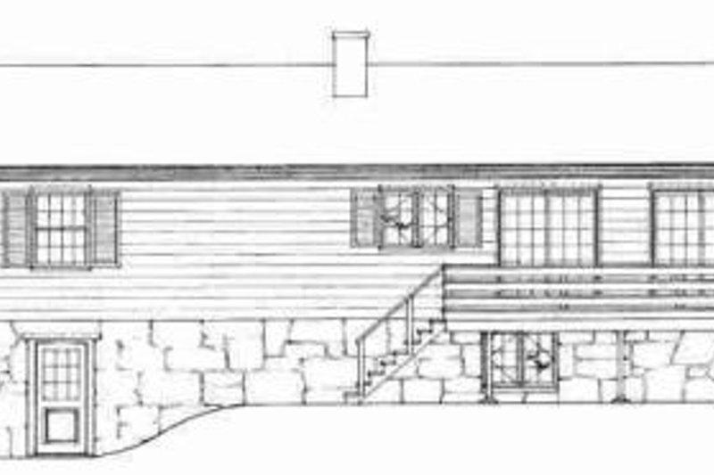 Traditional Exterior - Rear Elevation Plan #72-295 - Houseplans.com