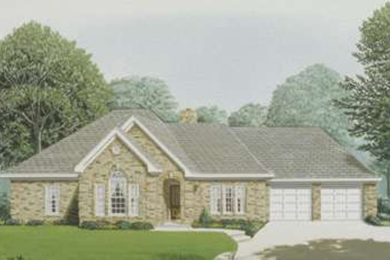 European Exterior - Front Elevation Plan #410-281