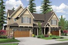 Dream House Plan - Craftsman Exterior - Front Elevation Plan #48-566