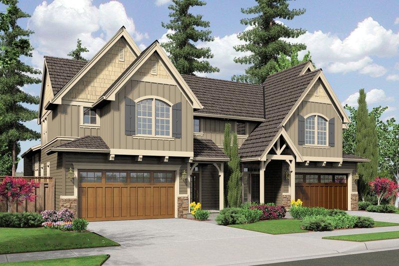 Craftsman Exterior - Front Elevation Plan #48-566