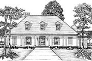 European Style House Plan - 3 Beds 2 Baths 2838 Sq/Ft Plan #36-223 Exterior - Front Elevation