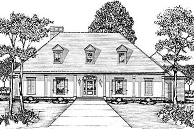 Home Plan - European Exterior - Front Elevation Plan #36-223