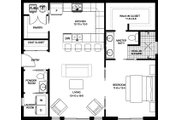 Contemporary Style House Plan - 1 Beds 1.5 Baths 896 Sq/Ft Plan #126-177