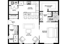 Contemporary Floor Plan - Main Floor Plan Plan #126-177