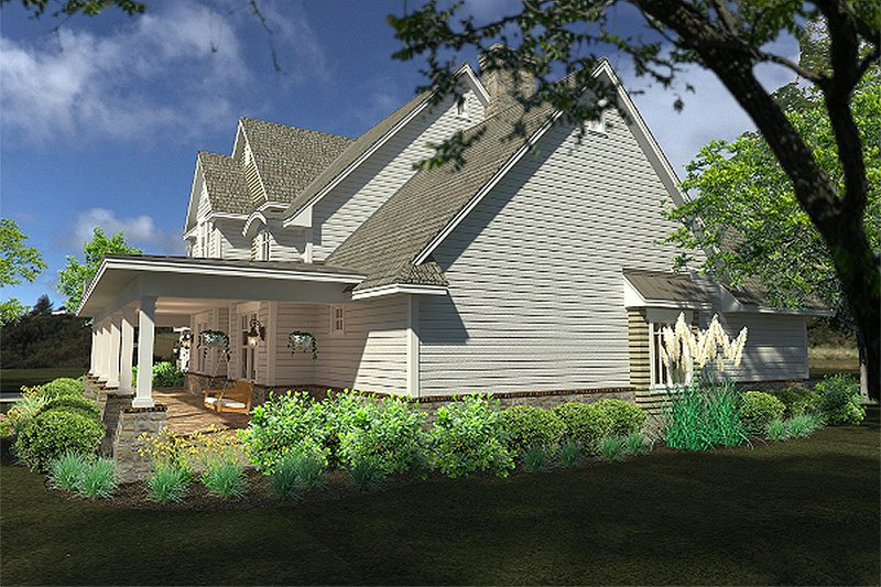 Country Exterior - Other Elevation Plan #120-189 - Houseplans.com